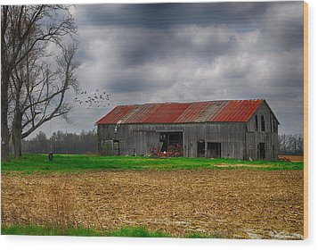 Before The Storm Wood Print by Mary Timman