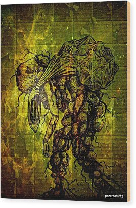 Beings Incapable Of Deep Feelings Of The Human Condition Wood Print by Paulo Zerbato