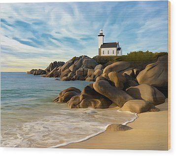 Belle Isle Light Wood Print by James Charles