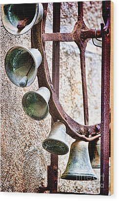 Bells In Sicily Wood Print by David Smith