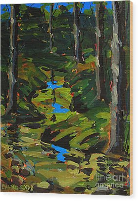 Below The 8th Green Wood Print by Charlie Spear