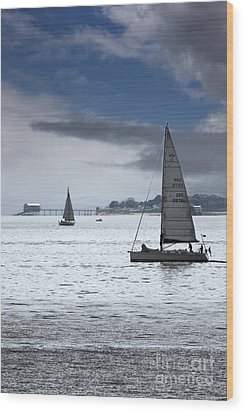 Bembridge Pier From Gosport Wood Print by Terri Waters