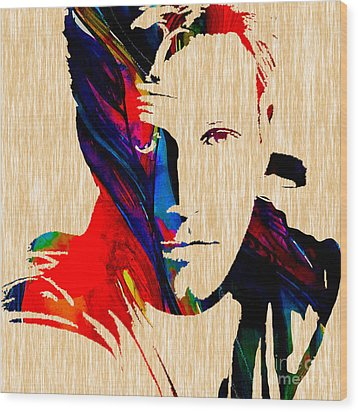 Ben Affleck Collection Wood Print by Marvin Blaine