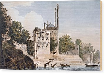 Benares On The Ganges Wood Print by William Hodges
