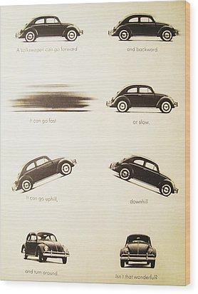Benefits Of A Volkwagen Wood Print by Georgia Fowler