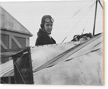 Bernetta Miller, Us Aviator Wood Print by Science Photo Library
