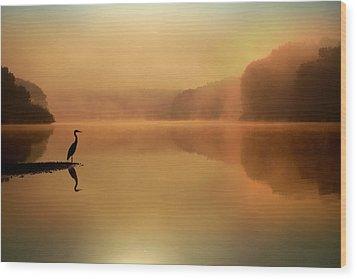 Beside Still Waters Wood Print by Rob Blair