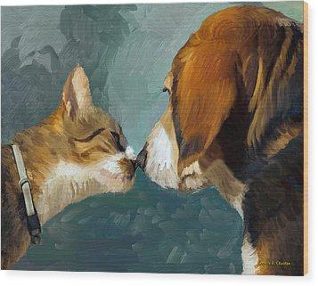 Best Friends Wood Print by Angela A Stanton