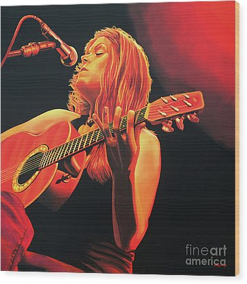 Beth Hart  Wood Print by Paul Meijering