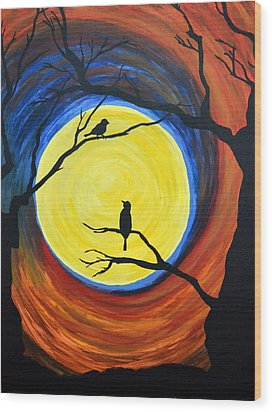 Between Day And Night Wood Print by Vicki Kennedy