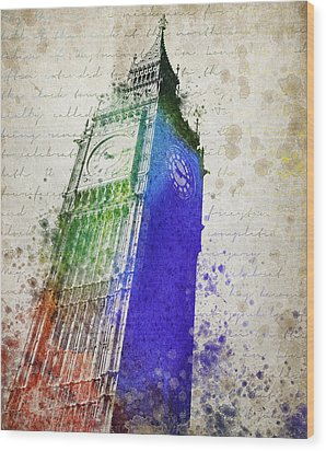 Big Ben Wood Print by Aged Pixel
