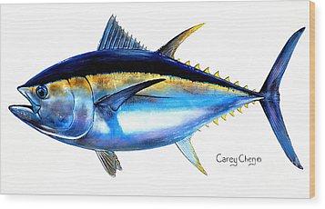 Big Eye Tuna Wood Print by Carey Chen