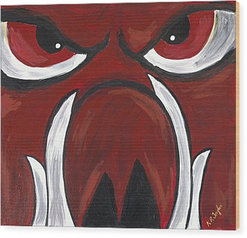Big Red Wood Print by Robin Taylor