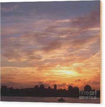 Big Sky Over Halifax Harbour Wood Print by John Malone