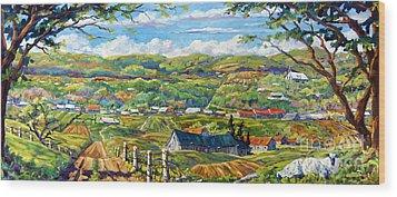 Big Valley By Prankearts Wood Print by Richard T Pranke