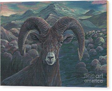 Bighorn Sheep Wood Print by Tom Blodgett Jr