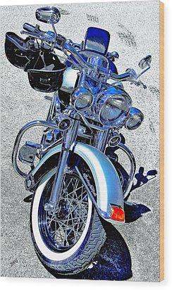Bike In Blue For Two Wood Print by Ben and Raisa Gertsberg