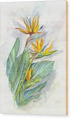 Bird Of Paradise Wood Print by Carol Wisniewski