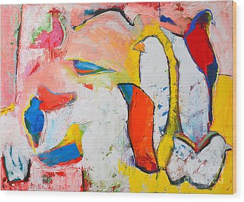 Birds In Paradise Wood Print by Ana Maria Edulescu