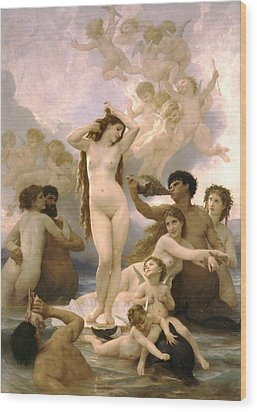 Birth Of Venus Wood Print by William Bouguereau