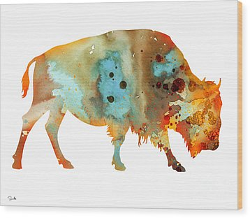 Bison 5 Wood Print by Luke and Slavi