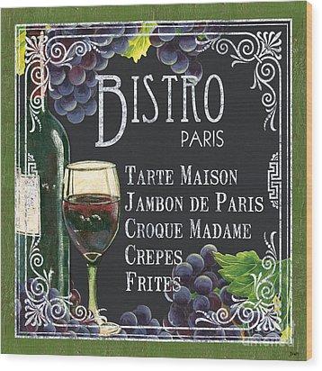 Bistro Paris Wood Print by Debbie DeWitt