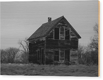 Black And White Forlorned Wood Print by Jeff Swan