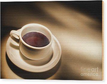 Black Coffee Wood Print by Olivier Le Queinec