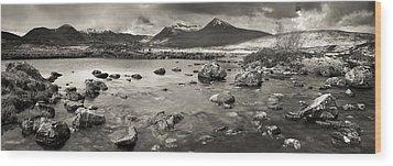 Black Mount From Rannoch Moor Wood Print by Maciej Markiewicz
