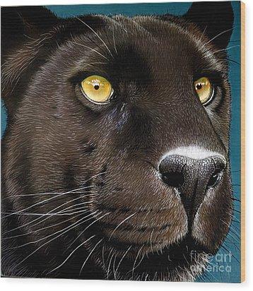 Black Panther Wood Print by Jurek Zamoyski
