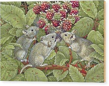 Blackberrying Wood Print by Ditz