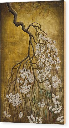 Blooming Sakura Wood Print by Vrindavan Das
