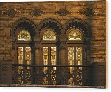 Bloomingdale's At Home In Chicago's Medinah Temple Wood Print by Christine Till