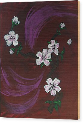 Blossoms Wood Print by Nyxie Clark