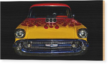 Blown 57 Chevy Wood Print by Ken Smith