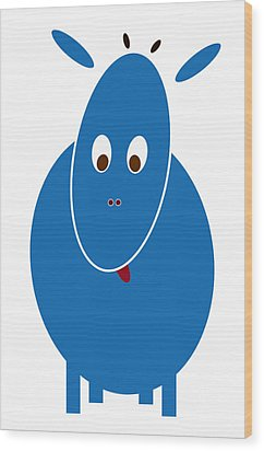Blue Bestia Wood Print by Frank Tschakert