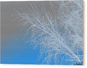 Blue Branches Wood Print by Carol Lynch