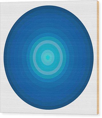 Blue Circles Wood Print by Frank Tschakert