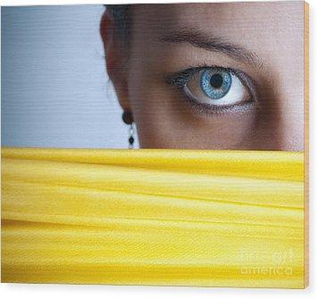 Blue Eye Wood Print by Jelena Jovanovic