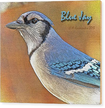 Wood Print featuring the photograph Blue Jay by A Gurmankin