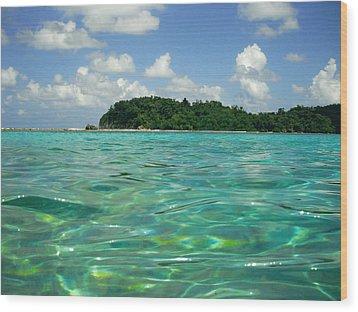 Blue Lagoon Wood Print by Carey Chen