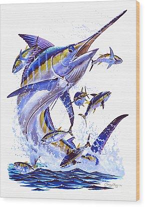 Blue Marlin Wood Print by Carey Chen