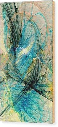 Blue Phoenix Wood Print by Anastasiya Malakhova
