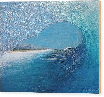 Blue Room Wood Print by Nathan Ledyard