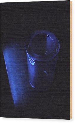 Blue Slide Blues Wood Print by Everett Bowers