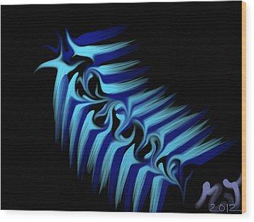 Blue Slug Wood Print by Michael Jordan
