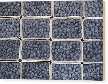 Blueberries Wood Print by Tim Gainey