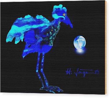 Bluebird Watching Wood Print by Hartmut Jager
