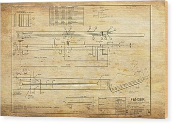 Blueprint For Rock And Roll Wood Print by GCannon
