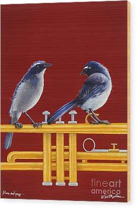 blues and Jazz... Wood Print by Will Bullas